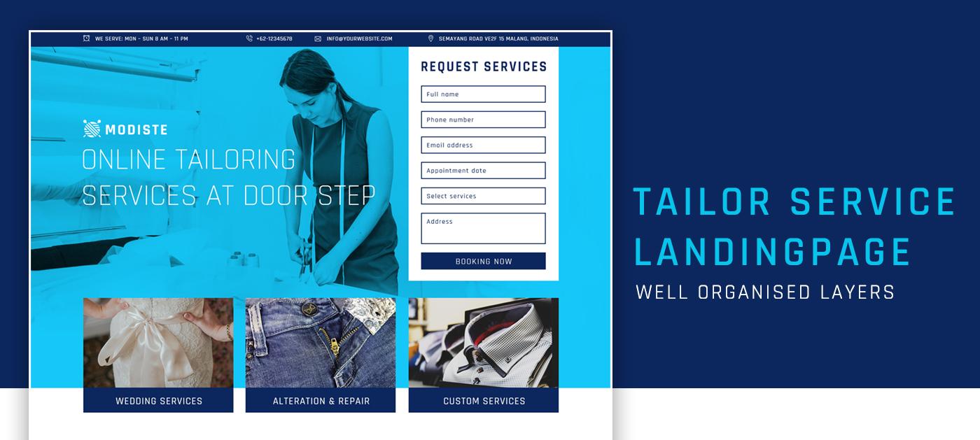 tailor service landingpage